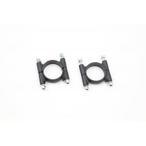 25mm Plastic Clamp with Hardware (2 sets)