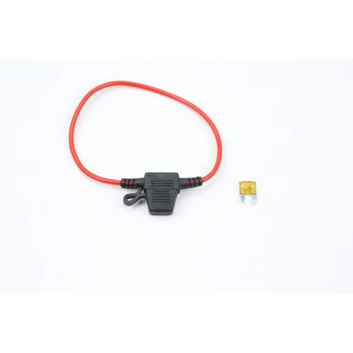 In Line 12V 20A Fuse Holder for Mini Blade, Splash-proof